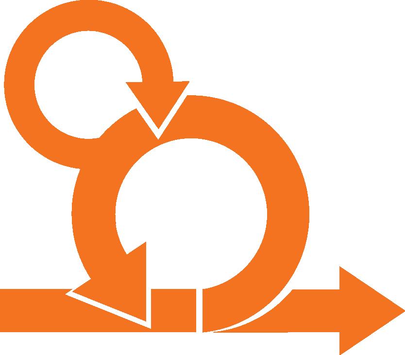 Orange Agile Logo Transparent