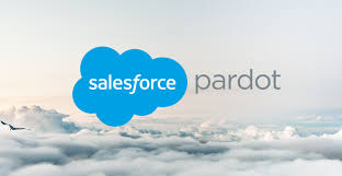 SalesForce pardot Logo above the clouds