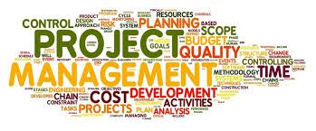 Word mingle surrounding Project Management