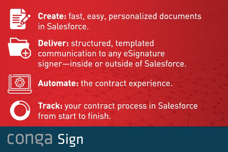 Conga Sign - Transforming your Digital Documents  to the next tage.